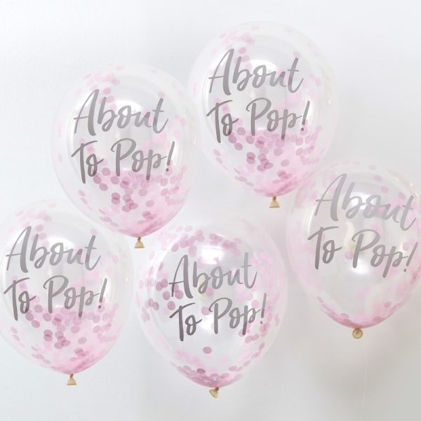 Buy Printed Pink Confetti Balloons