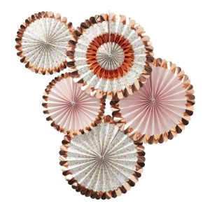Buy Rose Gold Foiled Floral Fan Decorations
