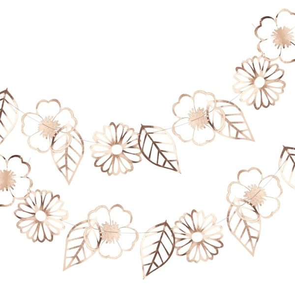 Buy Rose Gold Foiled Flower Garland