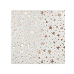 Buy Rose Gold Foiled Star Design Cocktail Napkins