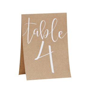 Buy Table Number Tend Cards 1-12