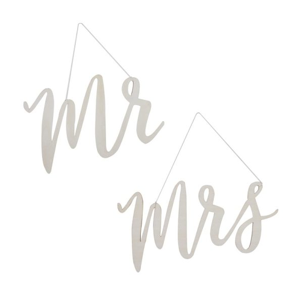 Buy Wooden Mr & Mrs Chair Signs Beautiful Botanics