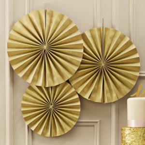 Circle Fan Pinwheel Decorations