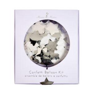 Confetti Silver Balloons