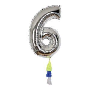 Fancy Number 6 Balloon