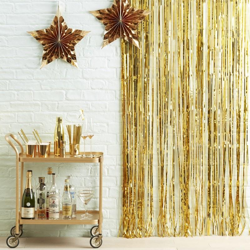 Gold Foil Fridge Curtain Decoration | Metalic Star
