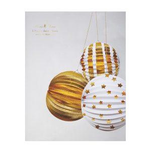 Gold Foil Globe Decorations Box