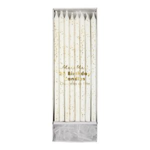 Gold Glitter Candles