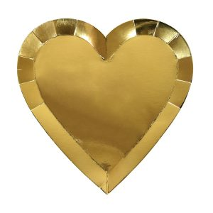 Gold Heart Plates Large