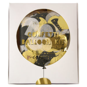 Gold & Silver Confetti Balloons