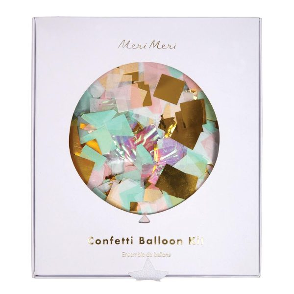 Iridescent Confetti Balloons