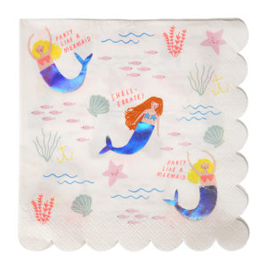 Let's Be Mermaids Napkins Large