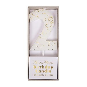 Number 2 Candle White