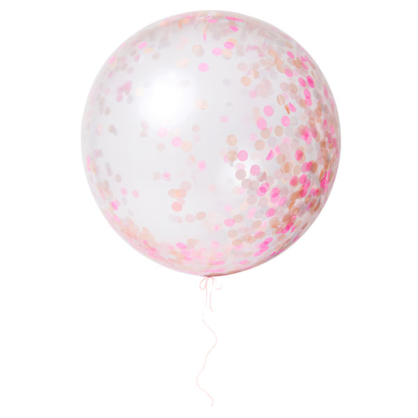 Pink Giant Confetti Balloons