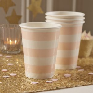 Pink Paper Cups Pastel Perfection
