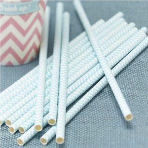 Powder Mint Green Paper Straws