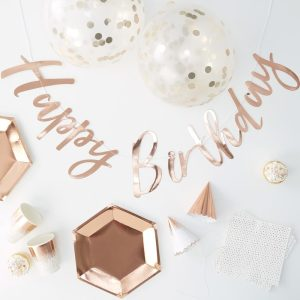Rose Gold Foiled Complete Party In a Box