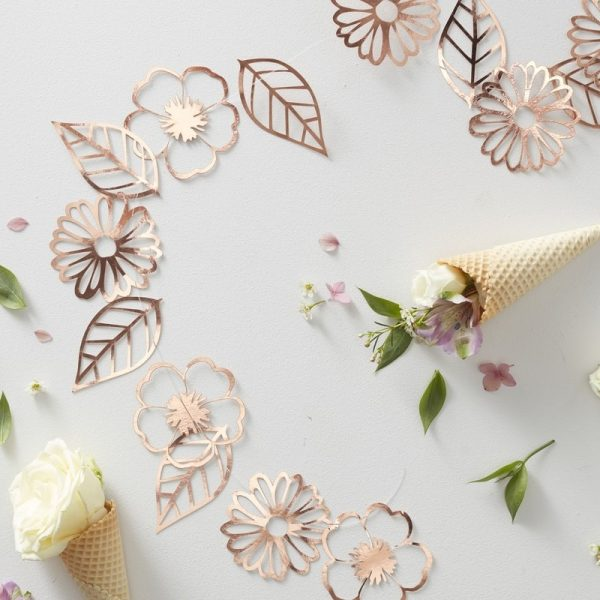 Rose Gold Foiled Flower Garland