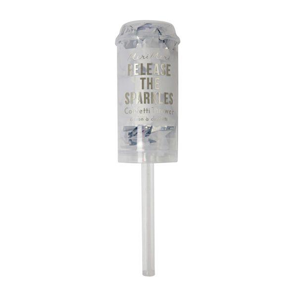 Silver Confetti Popper