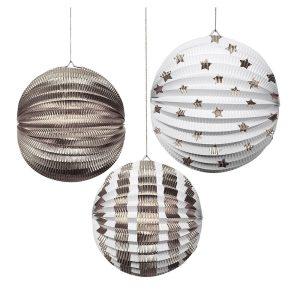 Silver Foil Globe Decorations