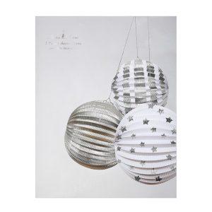 Silver Foil Globe Decorations Box