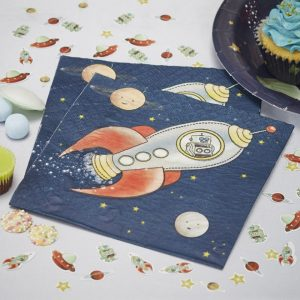 Space Adventure Party Paper Napkins