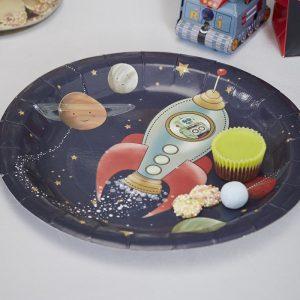 Space Adventure Party Paper Plates