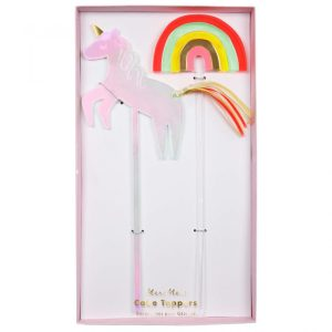 Unicorn & Rainbow Cake Toppers