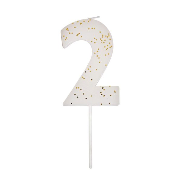 Number 2 CandleWhite