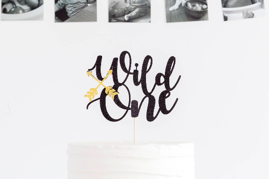 Wild One First Birthday Cake Topper
