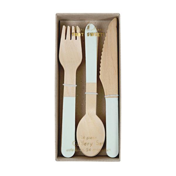 Wooden Cutlery Set Mint