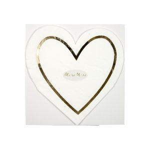 Buy Gold Heart Napkins
