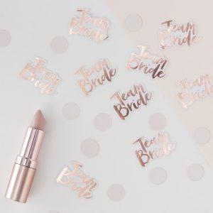 Rose Gold Foiled Team Bride Confetti