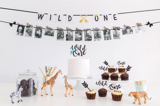 Wild one first birthday cake topper
