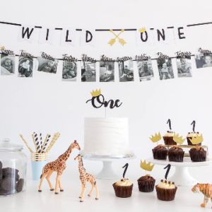 This First Birthday Boy Wild ONE Cake Topper party decoration