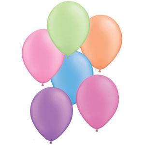 11 Inch Neon Assortment Latex Balloons