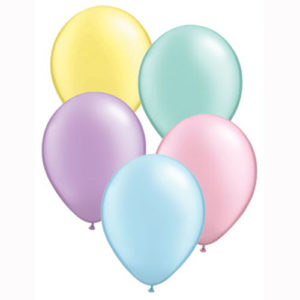11 Inch Pastel Pearl Assortment Latex Balloons