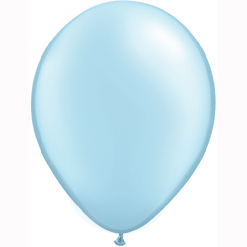 11 Inch Pastel Pearl Light Blue Solid-colour Latex Balloon