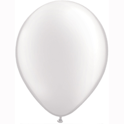 11 Inch Pastel Pearl White Solid-colour Latex Balloon