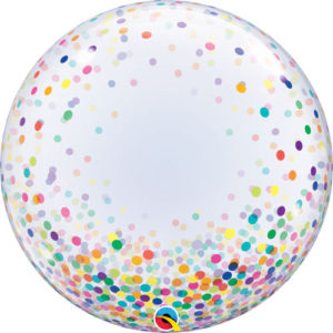 24 Inch Colourful Confetti Dots Deco Bubble