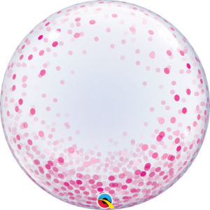 24 Inch Pink Confetti Dots Deco Bubble