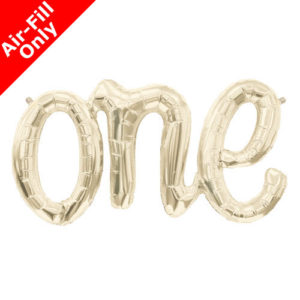 30 Inch Gold One script Foil Balloon
