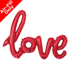 40 Inch Love Red Script Foil Balloon
