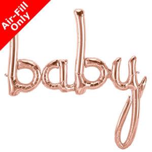46 Inch Baby Rose Gold Script Foil Balloon
