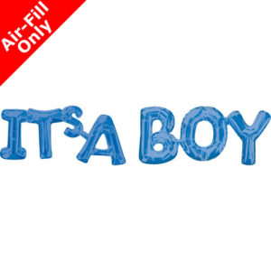 9 Blue Phrase Foil Balloon Pack - It's a Boy