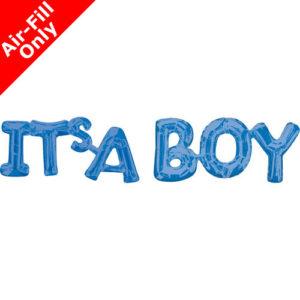 9 Blue Phrase Foil Balloon Pack - It's a Boy