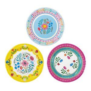 Boho Medium Floral Paper Plates