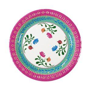 Boho Medium Floral Paper pink Plates