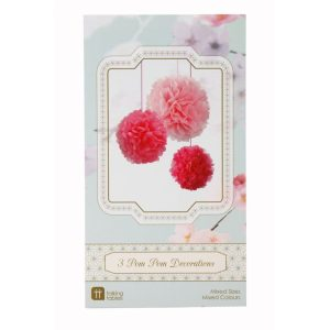 Buy Decadent Decs Pom Poms Pink Mix