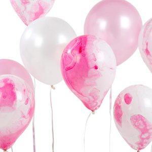 Buy Pink Marble Effect Balloons